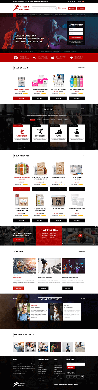 Medical Supplement WordPress Theme