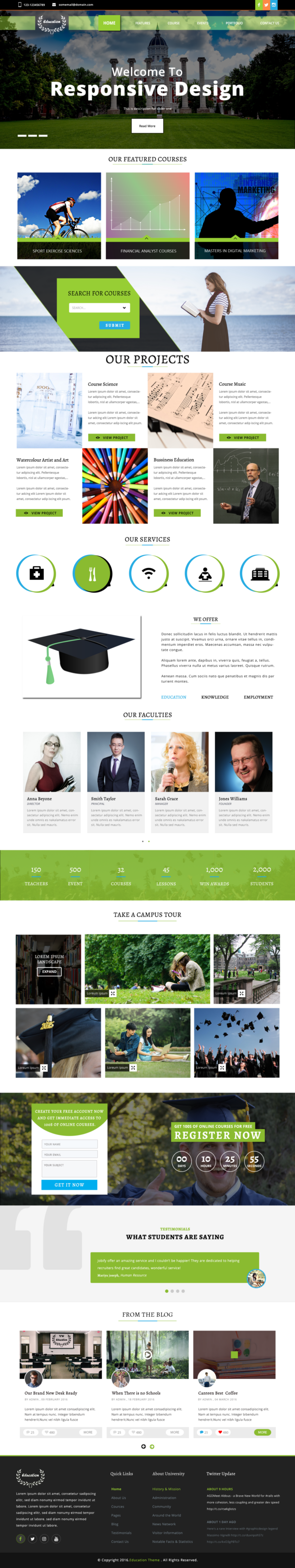 Education WordPress theme.