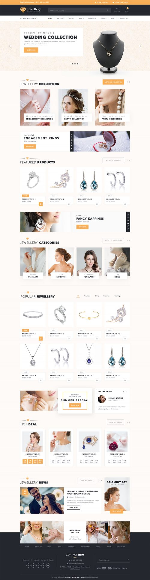 Jewellery WordPress Theme