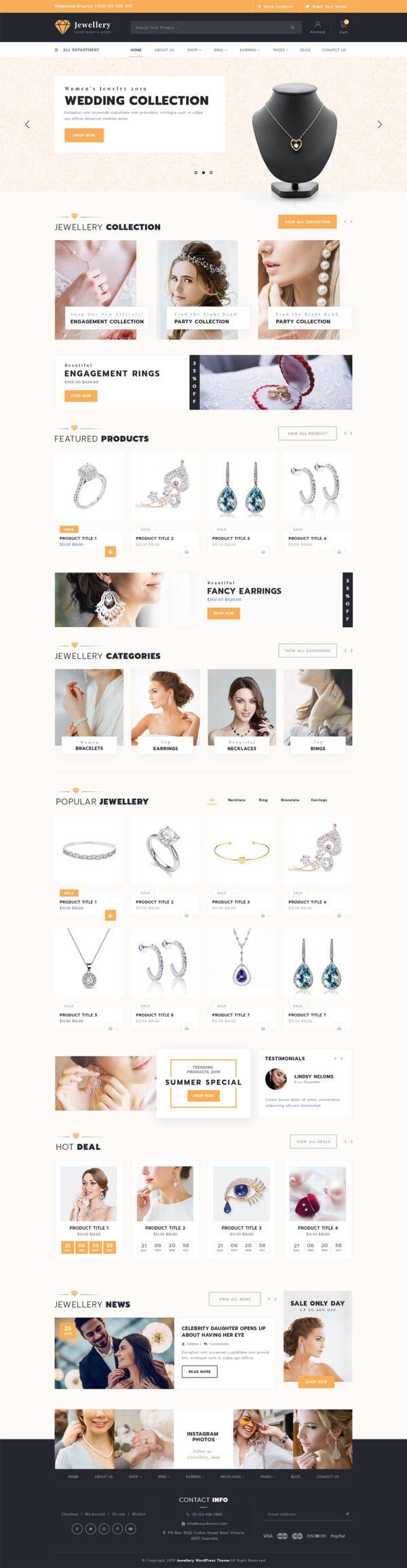 Jewellery WordPress Theme