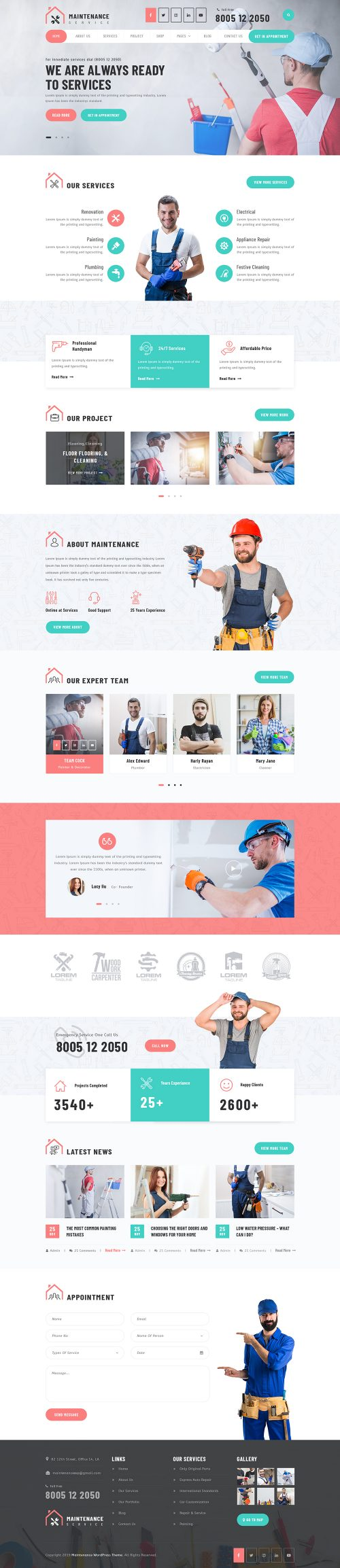 Maintenance Service WordPress Theme