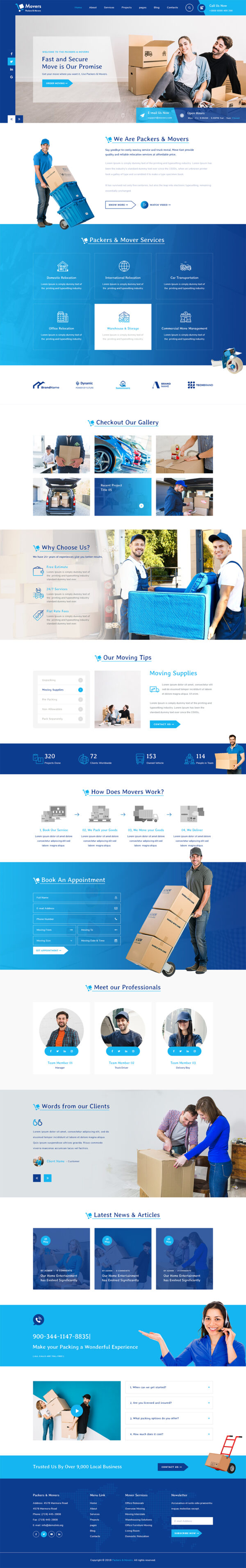 Moving Company WordPress Theme